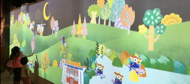 來「南海路創藝島:數位兒童藝術基地」聽故事,與畫跳舞