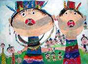 圖片:第六屆全國原住民族兒童繪畫創作比賽優秀作品展