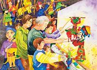 圖片:繽紛色彩暖冬日 世界兒童畫精品系列展