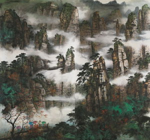 The 2017 Contemporary Chinese Painting Exhibition of Contemporary Chinese Painting School Picture