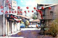 圖片:郭金昇「鄉情彩意」水彩畫個展