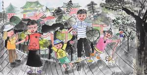 台灣兒童水墨寫生得獎作品展