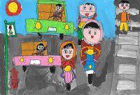圖片:第16屆和泰汽車全國兒童交通安全繪畫比賽作品展覽