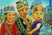 圖片:第二屆全國原住民族兒童繪畫創作比賽得獎作品展