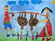 圖片:第四屆全國原住民族兒童繪畫創作比賽優秀作品展